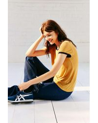 Project Social T Yellow Molly Ringer Tee