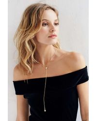 Urban Outfitters - Metallic Liza Stone Lariat Necklace - Lyst