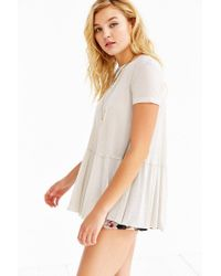 Truly Madly Deeply - White Dusty Road Peplum Tee - Lyst