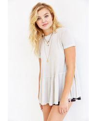 Truly Madly Deeply White Dusty Road Peplum Tee