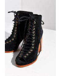 Jeffrey Campbell - Black Free Love Lace-up Heel - Lyst