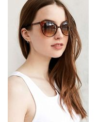 Urban Outfitters | Brown Marley Petite Cat-eye Sunglasses | Lyst