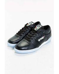 Reebok | Black Workout Low Clean Sneaker for Men | Lyst