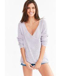 Kimchi Blue Gray Sunny Surplice Sweater