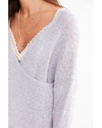 Kimchi Blue - Gray Sunny Surplice Sweater - Lyst