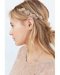 Urban Outfitters   Metallic Golden Flower Halo Headband   Lyst