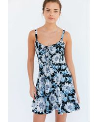 Kimchi Blue | Blue Lace-up Fit + Flare Mini Dress | Lyst
