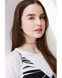 Urban Outfitters | Metallic Wire Tattoo Choker Necklace | Lyst
