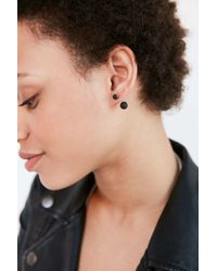 Urban Outfitters - Black Matte Bauble Front/back Earring - Lyst