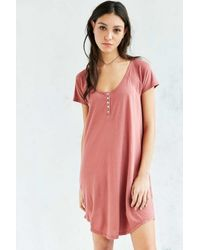 1175db705dd1 Truly Madly Deeply Henley T-shirt Dress in Pink - Lyst