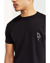 Urban Outfitters | Black Embroidered Praying Hands Tee for Men | Lyst