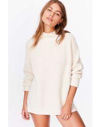BDG | White Waffle-knit Turtleneck Sweater | Lyst