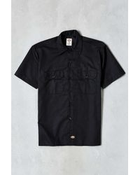 Dickies Red Mechanic Short-sleeve Work Shirt