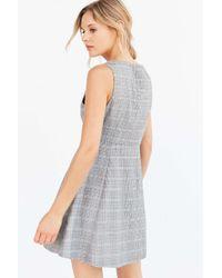 Cooperative Multicolor Houndstooth Empire Waist Mini Dress