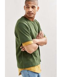 Urban Outfitters | Green Uo Boxy Double Layer Tee for Men | Lyst
