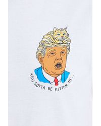 Urban Outfitters - White Trump You Gotta Be Kitten Me Tee - Lyst