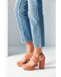 Urban Outfitters | Pink Platform Heel | Lyst