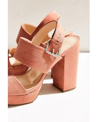 Urban Outfitters - Pink Platform Heel - Lyst