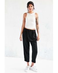 Silence + Noise | Black Slouchy Tailored Trouser | Lyst