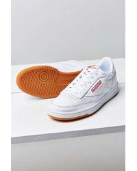 364e38b461b Lyst - Reebok Club C 85 Gum Sole Sneaker in White