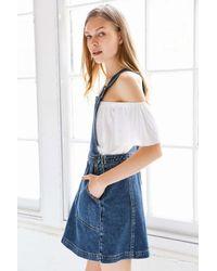 Cooperative Blue Denim A-line Jumper Mini Dress