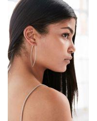 Urban Outfitters | Metallic 18k Gold + Sterling Silver Delicate Geo Hoop Earring | Lyst
