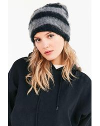 Urban Outfitters | Black Slouchy Fuzz Ribbed Beanie | Lyst