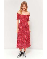 cae80b826ebd Kimchi Blue Picnic Floral Off-the-shoulder Midi Dress - Womens Xs in ...
