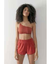 Out From Under Red Stay In Lounge Shorts