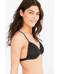 Out From Under - Black Strappy Back Halter Bra - Lyst