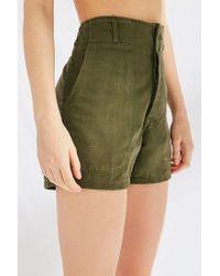 Urban Outfitters Green Vintage Herringbone Short