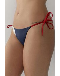 Tommy Hilfiger Multicolor Bold String Bikini Bottoms