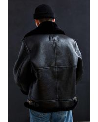 Schott Nyc - Black Sheepskin B3 Bomber Jacket for Men - Lyst