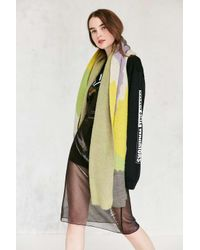 Urban Outfitters | Green Brushed Landscape Intarsia Scarf | Lyst