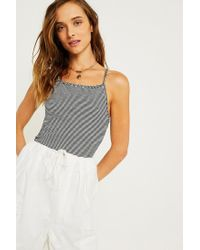 Urban Outfitters Multicolor Uo Striped Apron Cami
