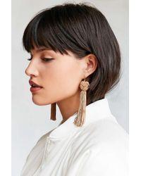 Vanessa Mooney | Natural Astrid Knotted Tassel Earring | Lyst