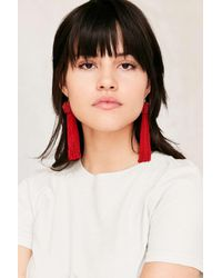 Vanessa Mooney | Red Astrid Knotted Tassel Earring | Lyst