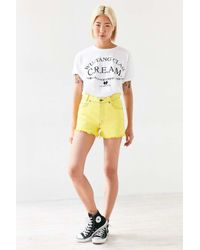Urban Renewal - Yellow Recycled Overdyed Cutoff Short - Lyst