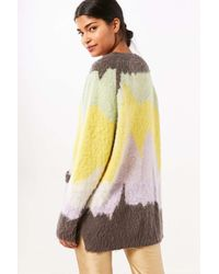 Ecote - Purple Gigi Cozy Brushed Colorblock Cardigan - Lyst
