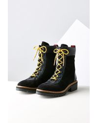 Urban Outfitters Black Eve Hiker Boot