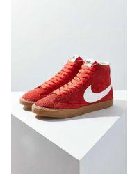 Nike   Orange Blazer Mid Vintage Suede Sneaker for Men   Lyst