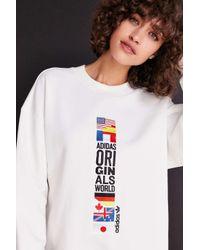 Adidas Originals | White Originals + Uo Archive Pullover Sweatshirt | Lyst