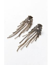 Urban Outfitters | Metallic Shelly Rhinestone Chandelier Post Earring | Lyst