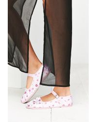Urban Outfitters | Multicolor Satin Jacquard Mary Jane Flat | Lyst