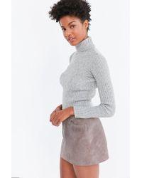 BDG - Gray Cassandra Ribbed Turtle Neck Sweater - Lyst