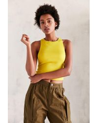 Silence + Noise - Yellow Utility Strap Tank Top - Lyst