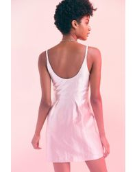 Kimchi Blue | Pink Taylor Shimmer Bow Waist Mini Dress | Lyst