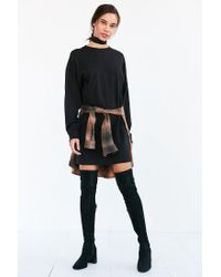 BDG Black Maeby Oversized Long-sleeve T-shirt Dress