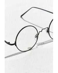 Urban Outfitters Black Flat True Round Readers for men