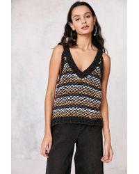 Ecote | Black Asher Stripe-stitch Sweater Tank Top | Lyst